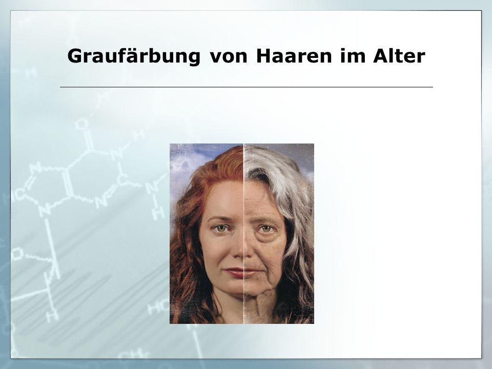 Graufärbung von Haaren im Alter