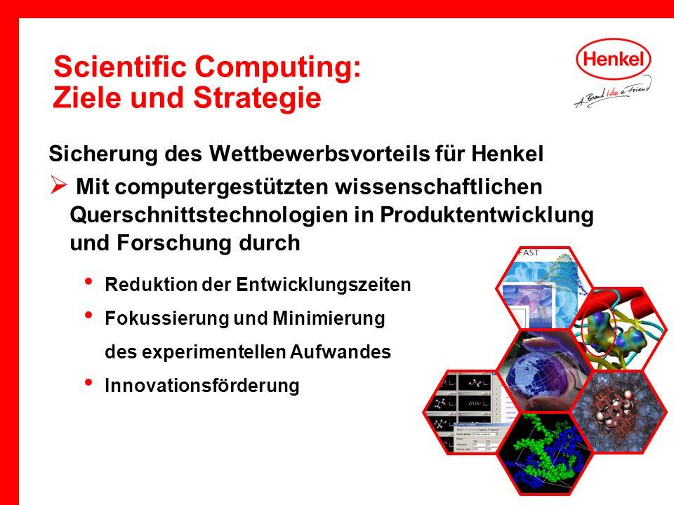 Scientific Computing: Ziele und Strategie Sicherung des Wettbewerbsvorteils für Henkel Mit computergestützten wissenschaftlichen Querschnittstechnolog