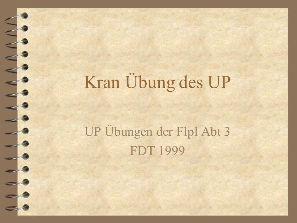 Kran Übung des UP UP Übungen der Flpl Abt 3 FDT 1999