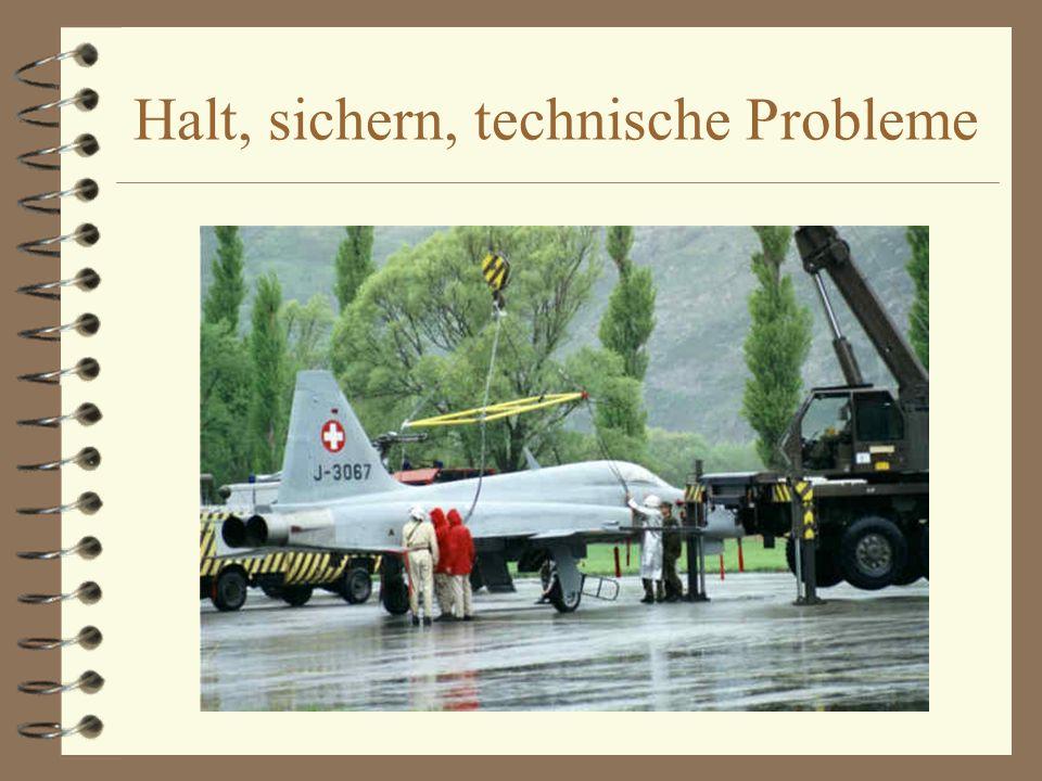 Halt, sichern, technische Probleme