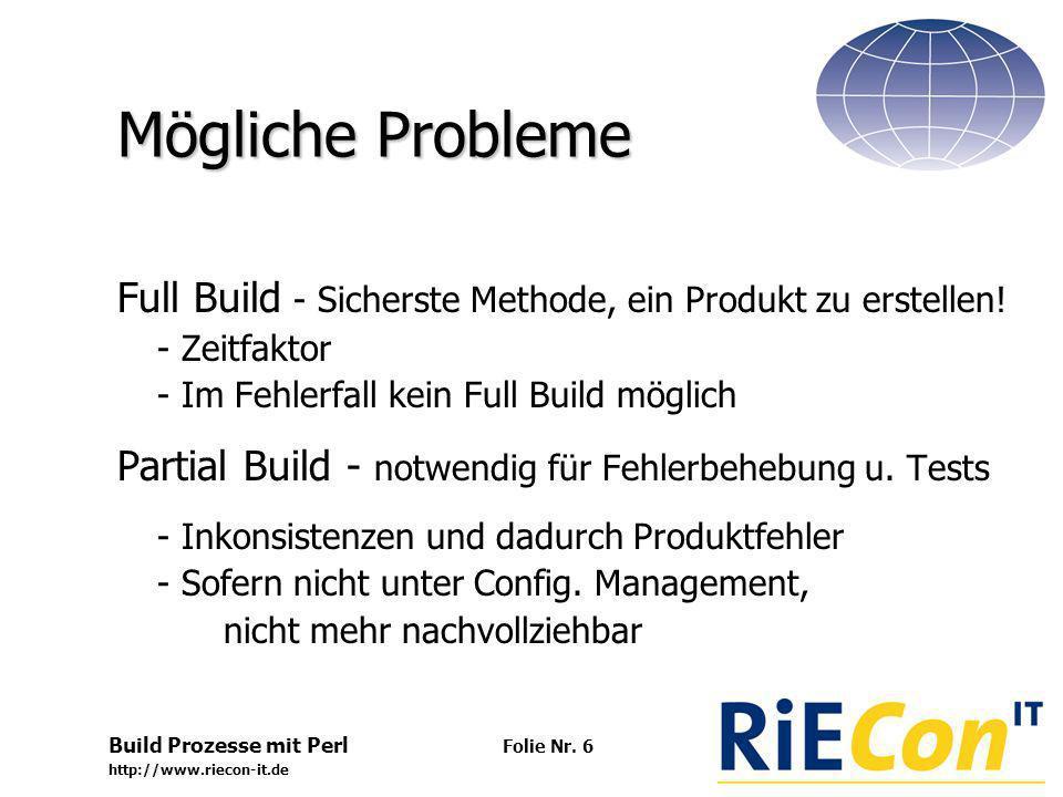 Build Prozesse mit Perl http://www.riecon-it.de Folie Nr.