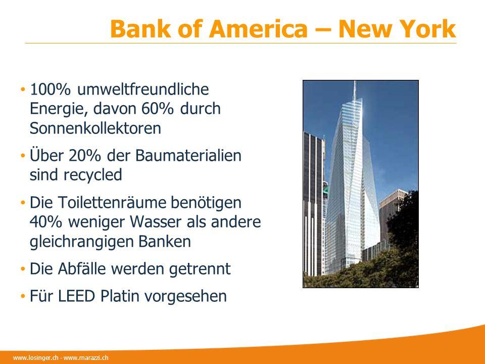 www.losinger.ch - www.marazzi.ch 100% umweltfreundliche Energie, davon 60% durch Sonnenkollektoren Über 20% der Baumaterialien sind recycled Die Toile
