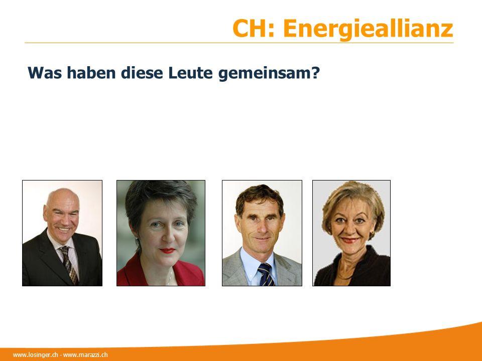 www.losinger.ch - www.marazzi.ch CH: Energieallianz Was haben diese Leute gemeinsam?
