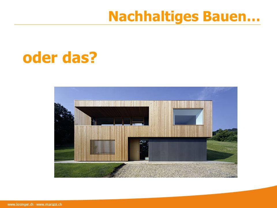 www.losinger.ch - www.marazzi.ch Nachhaltiges Bauen… oder das?