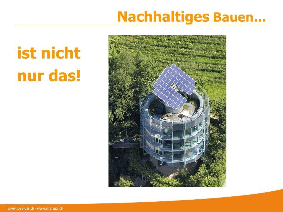 www.losinger.ch - www.marazzi.ch Nachhaltiges Bauen… ist nicht nur das!