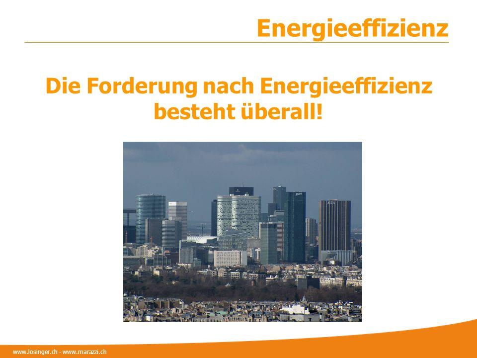 www.losinger.ch - www.marazzi.ch Energieeffizienz Die Forderung nach Energieeffizienz besteht überall!