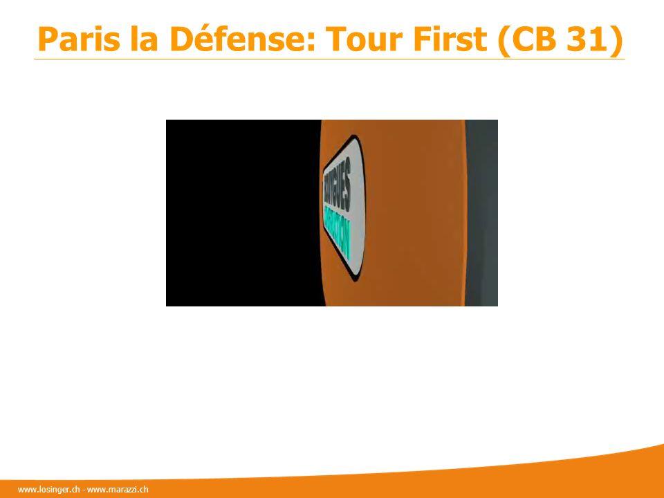 www.losinger.ch - www.marazzi.ch Paris la Défense: Tour First (CB 31)