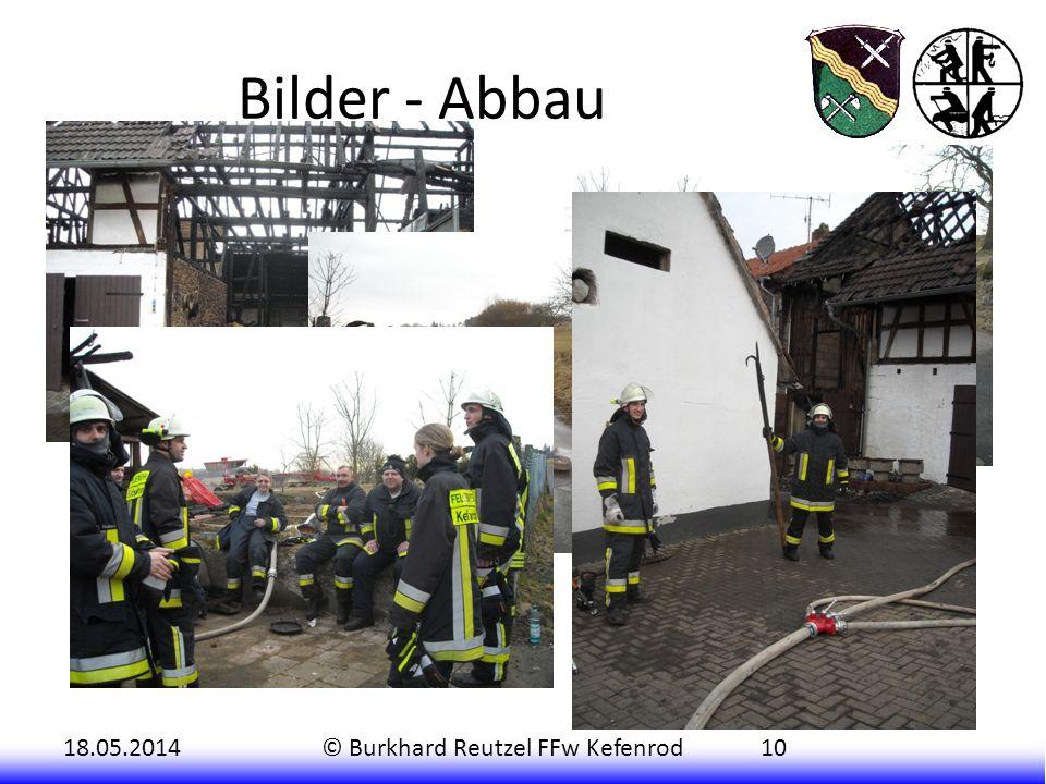 18.05.2014© Burkhard Reutzel FFw Kefenrod10 Bilder - Abbau