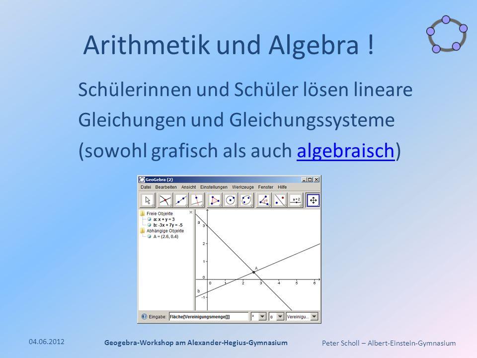 Peter Scholl – Albert-Einstein-Gymnasium Arithmetik und Algebra .