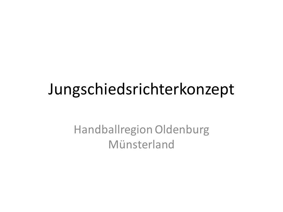 Jungschiedsrichterkonzept Handballregion Oldenburg Münsterland