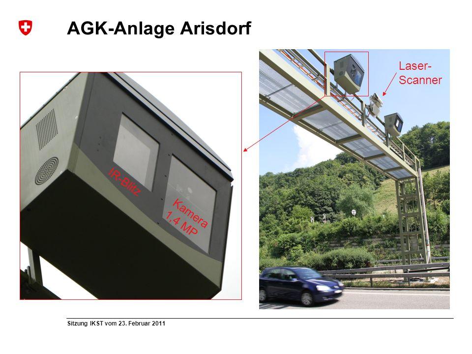 Sitzung IKST vom 23. Februar 2011 AGK-Anlage Arisdorf IR-Blitz Kamera 1,4 MP Laser- Scanner