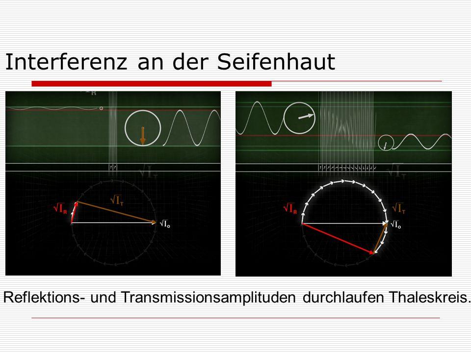Reflektions- und Transmissionsamplituden durchlaufen Thaleskreis.