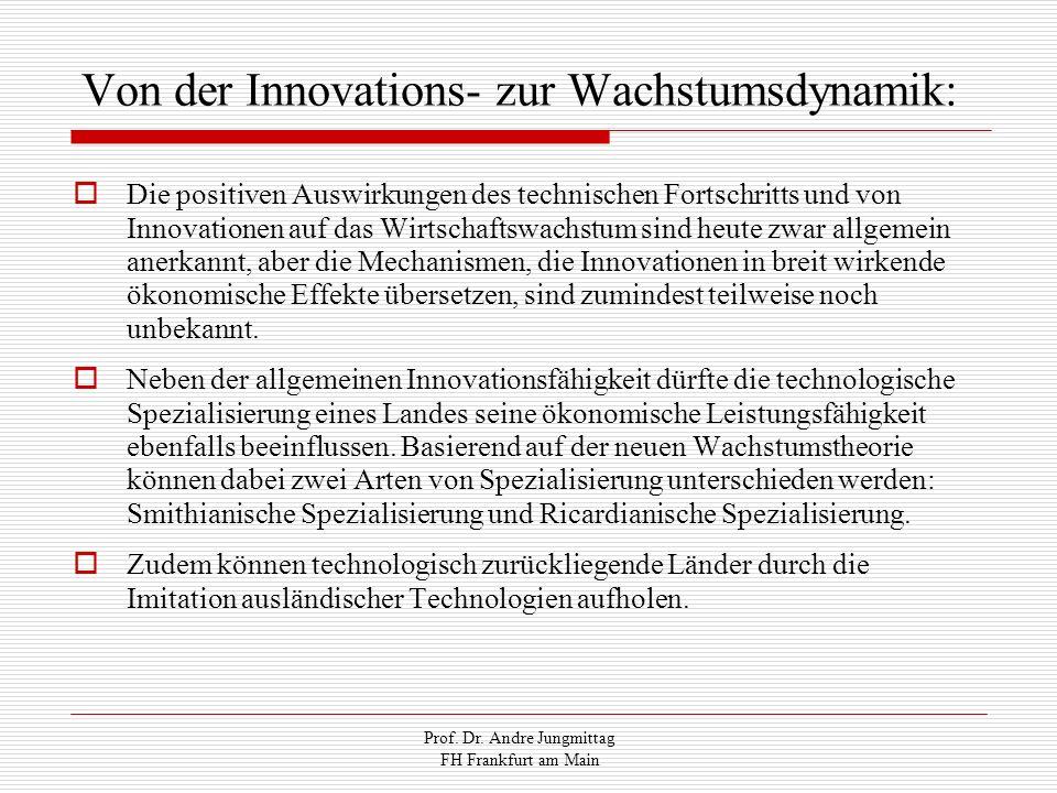 Prof. Dr. Andre Jungmittag FH Frankfurt am Main Von der Innovations- zur Wachstumsdynamik: Die positiven Auswirkungen des technischen Fortschritts und