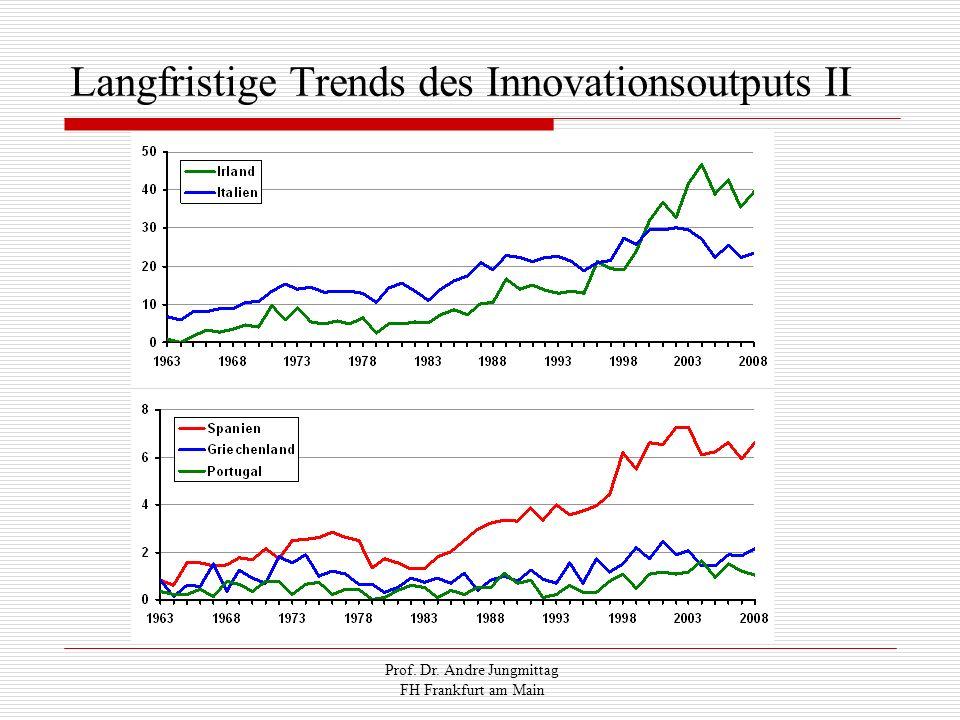 Prof. Dr. Andre Jungmittag FH Frankfurt am Main Langfristige Trends des Innovationsoutputs II