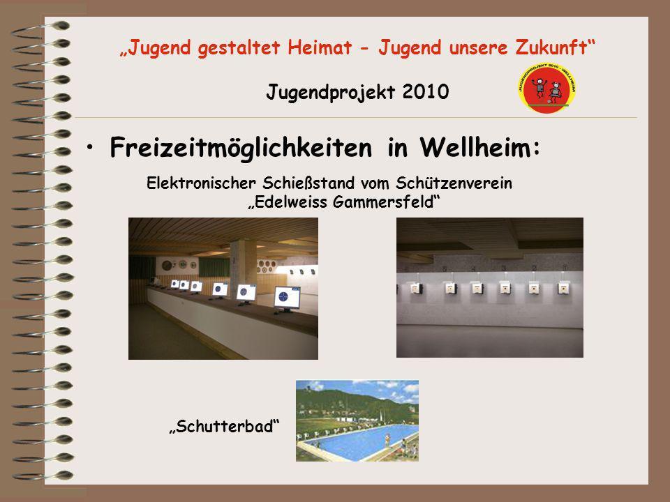 Jugend gestaltet Heimat - Jugend unsere Zukunft Jugendprojekt 2010 Freizeitmöglichkeiten in Wellheim: Elektronischer Schießstand vom Schützenverein Ed