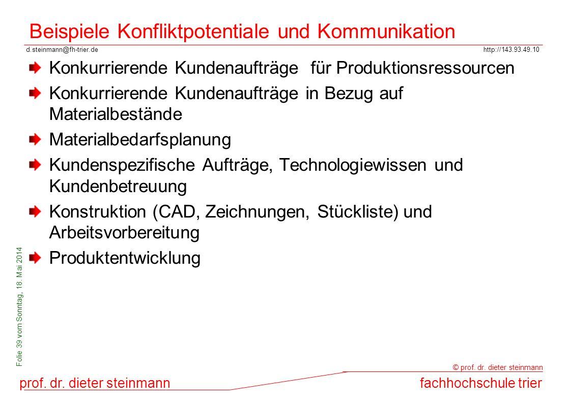 d.steinmann@fh-trier.dehttp://143.93.49.10 prof. dr. dieter steinmannfachhochschule trier © prof. dr. dieter steinmann Folie 39 vom Sonntag, 18. Mai 2