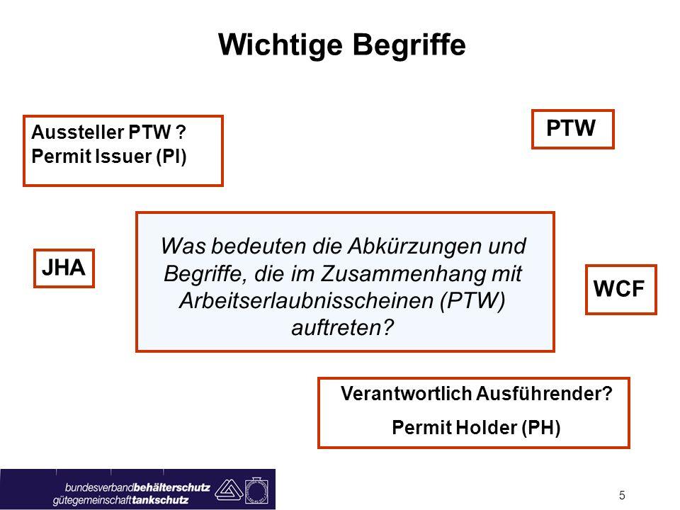 Seite 4 Anwendung Arbeitserlaubnisschein (PTW) Bei allen Arbeiten mit hohem Gefährdungspotential! Heißarbeiten mit Zündgefährdung Arbeiten in beengten