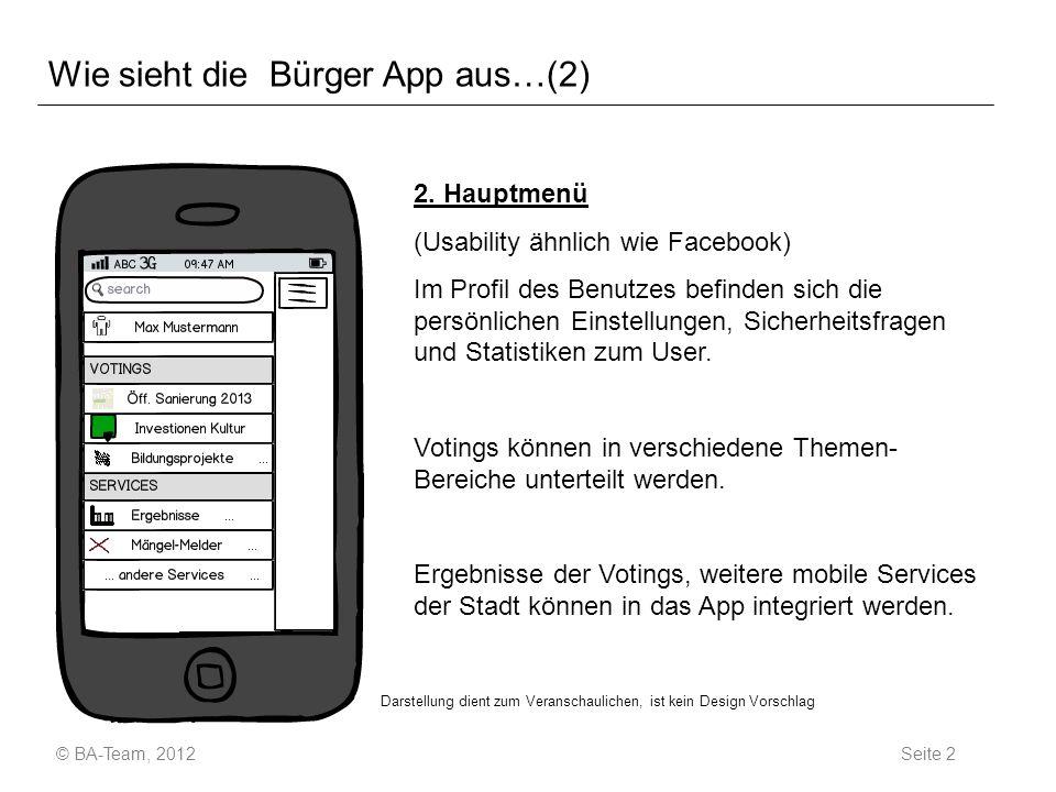 Wie sieht die Bürger App aus…(2) 2.