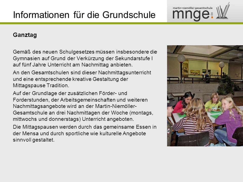 Informationen für die Grundschule Theater Sport Musik Ganztag