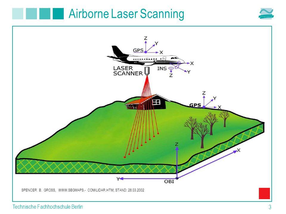 Technische Fachhochschule Berlin 3 Airborne Laser Scanning SPENCER B. GROSS, WWW.SBGMAPS.- COM/LIDAR.HTM, STAND: 28.03.2002