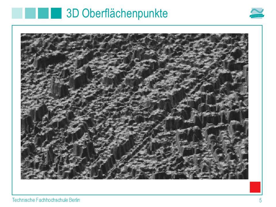 Technische Fachhochschule Berlin 5 3D Oberflächenpunkte