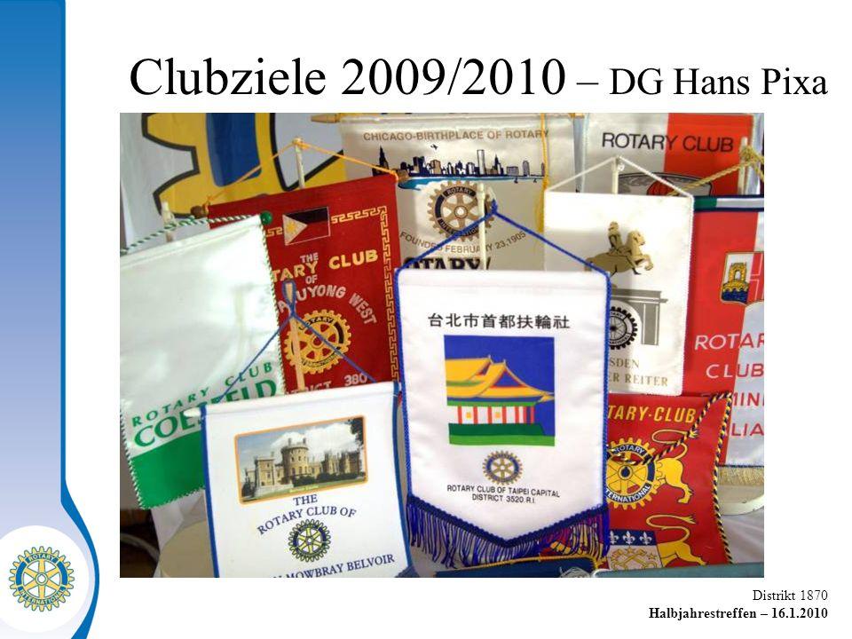 Distrikt 1870 Halbjahrestreffen – 16.1.2010 P A U S E