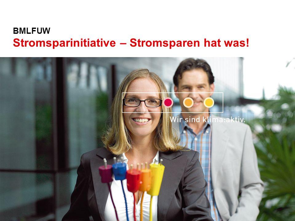 In Zusammenarbeit mit: BMLFUW Stromsparinitiative – Stromsparen hat was!