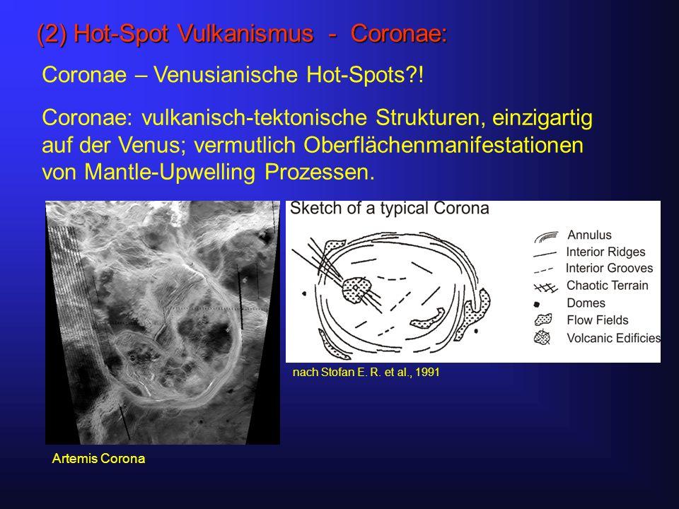 (2) Hot-Spot Vulkanismus - Coronae: Coronae – Venusianische Hot-Spots .