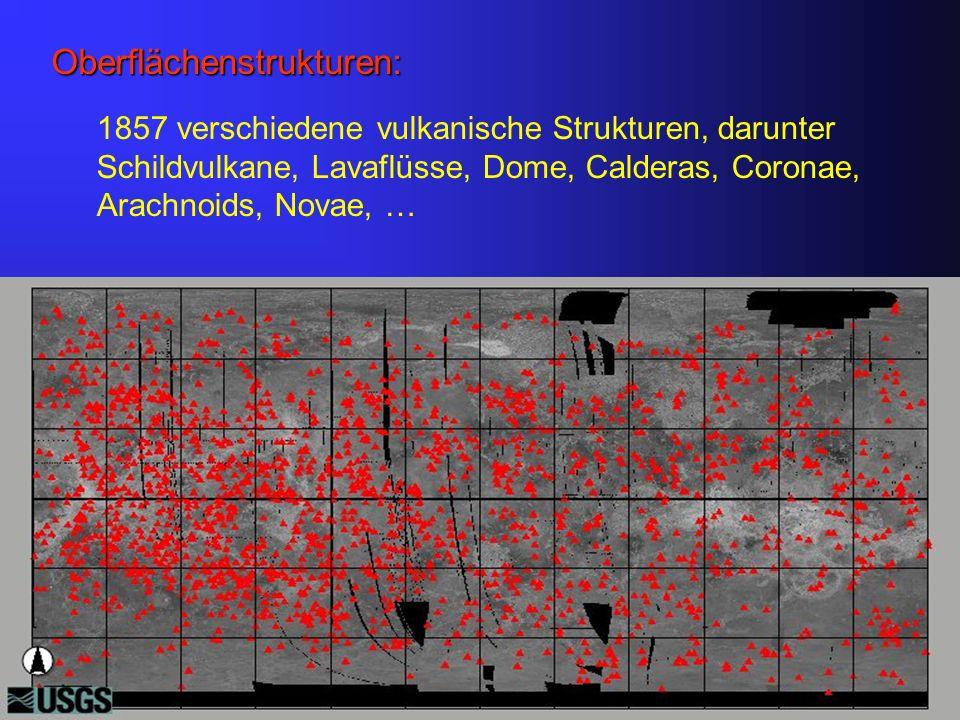 Mean Surface Heat Flow: Erde: Mean Surface Heat Flow: 87 mW/m 2 Total Heat Loss: 4.43 x 10 13 W Venus: keine Messungen -) Skalierungen von Erde: Solomon S.
