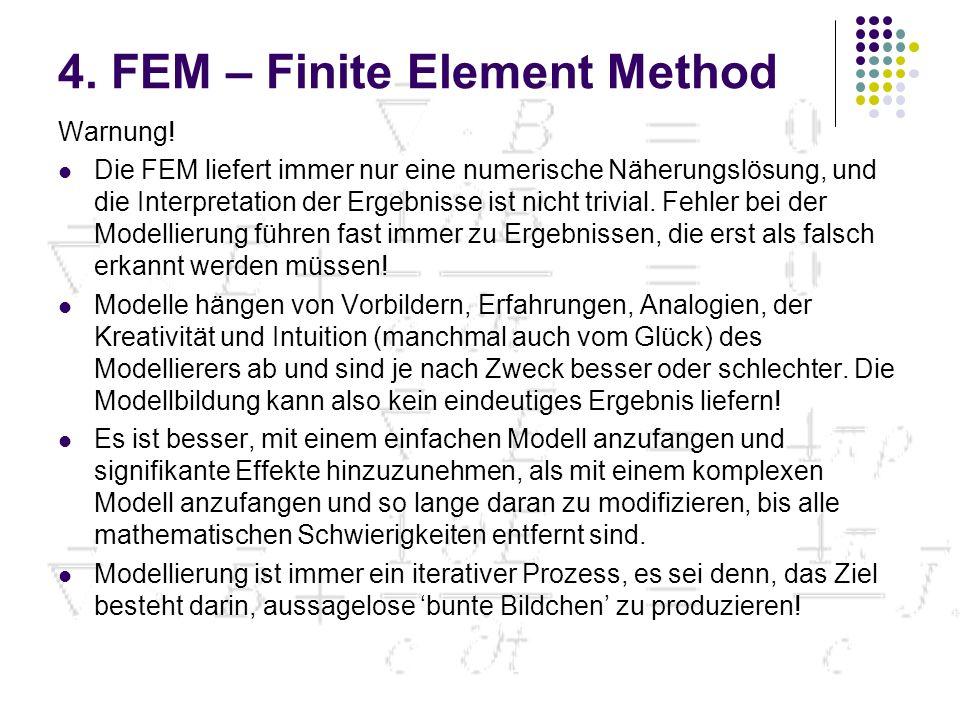 4.FEM – Finite Element Method Warnung.