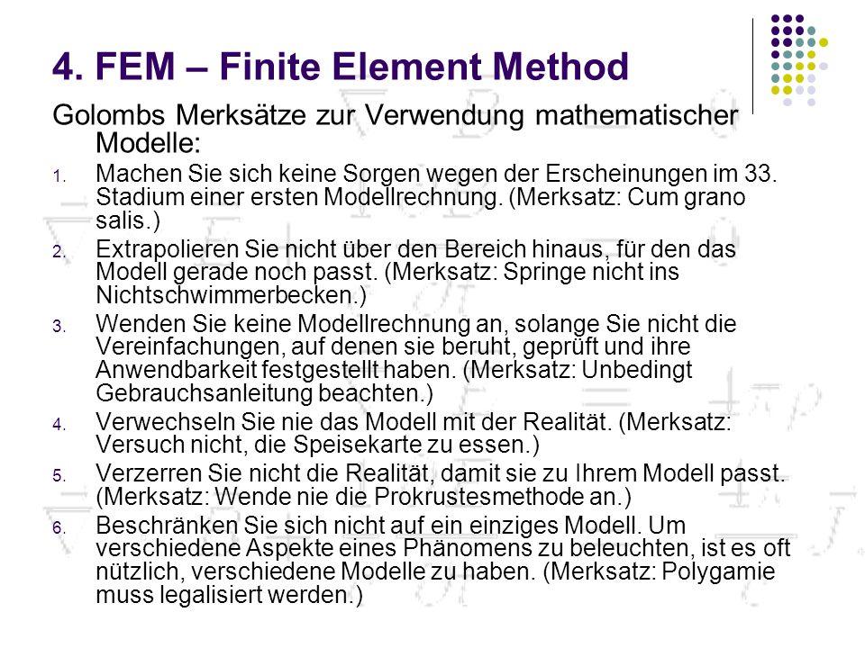 Golombs Merksätze zur Verwendung mathematischer Modelle: 1.