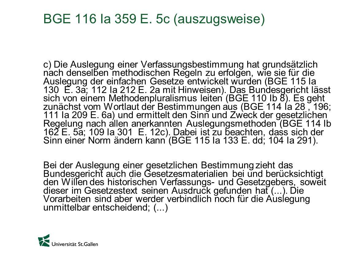 BGE 116 Ia 359 E.