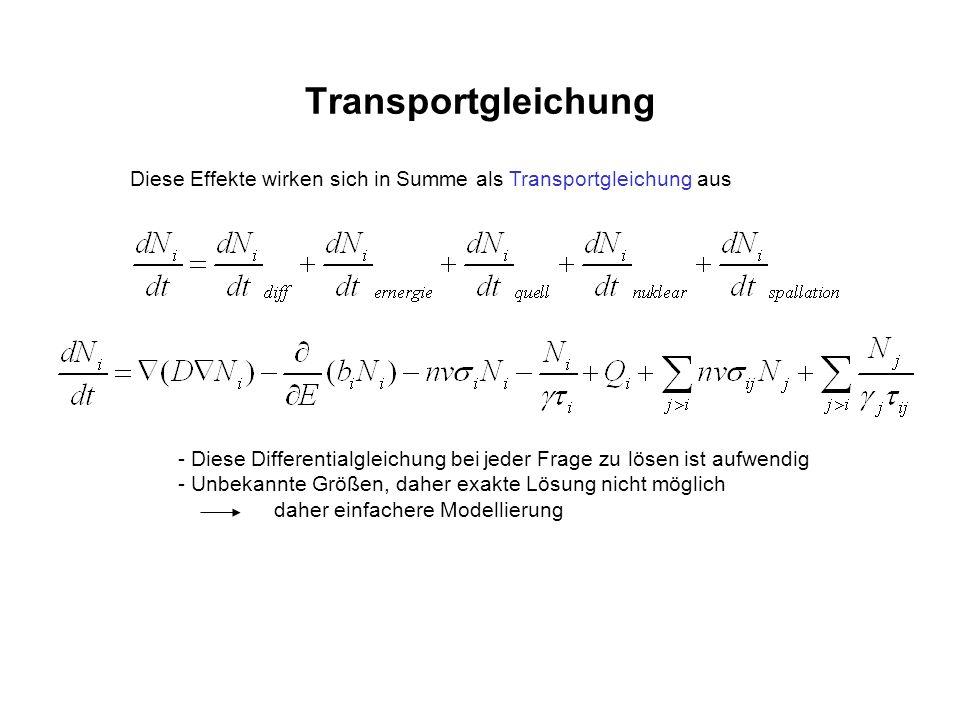 Transportgleichung Diese Effekte wirken sich in Summe als Transportgleichung aus - Diese Differentialgleichung bei jeder Frage zu lösen ist aufwendig