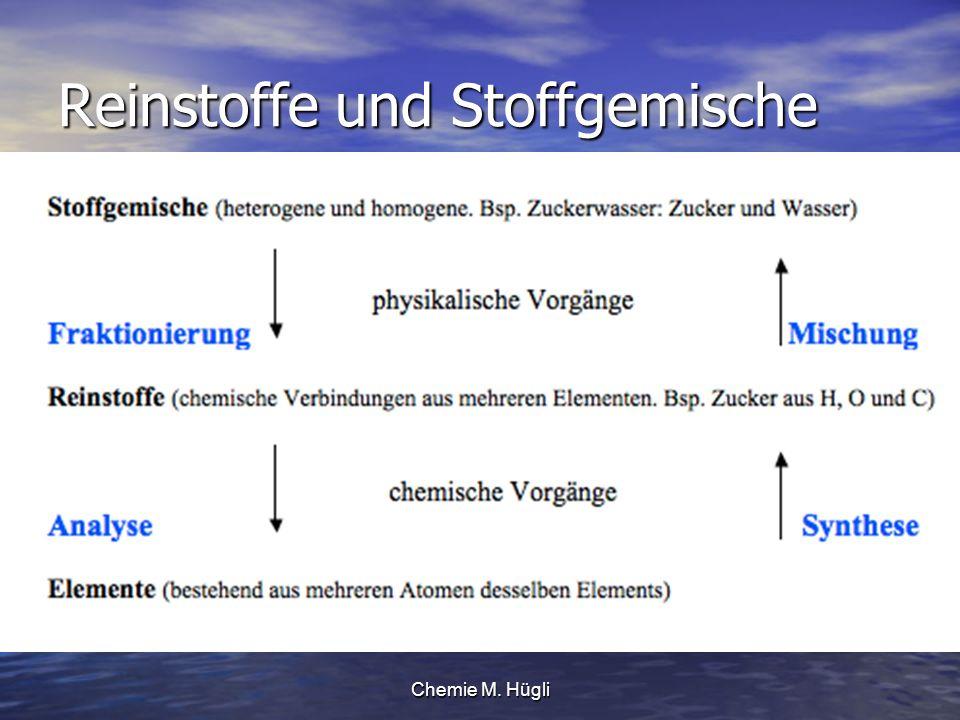 Chemie M. Hügli Reinstoffe und Stoffgemische
