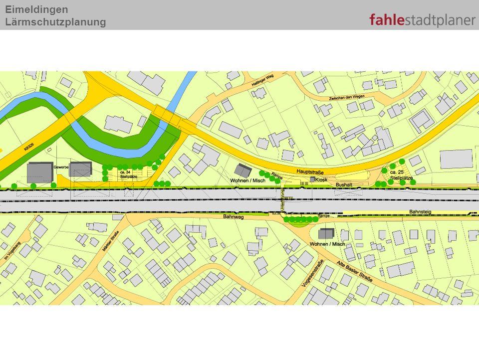 Eimeldingen Lärmschutzplanung Typ A Bahndamm Gestaltung der LSW freigestellt umfangreiche Bepflanzungen auf Bahndamm