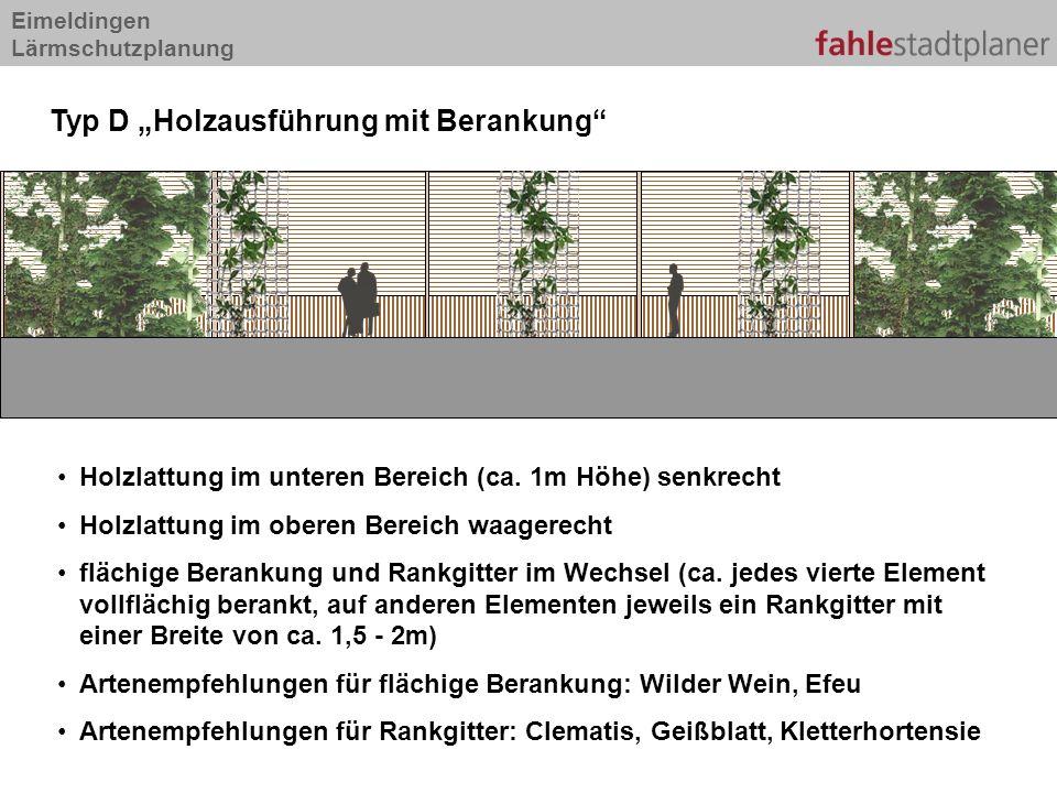 Eimeldingen Lärmschutzplanung Holzlattung im unteren Bereich (ca.