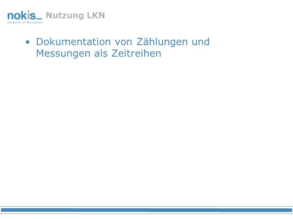 Nutzung LKN Dokumentation von Zählungen und Messungen als Zeitreihen