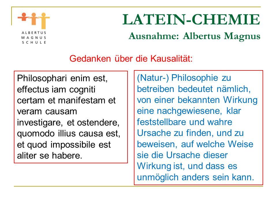 LATEIN-CHEMIE Jatrochemie Nicht alles aus der Alchemie ist schlecht, viel Nützliches wird begonnen.