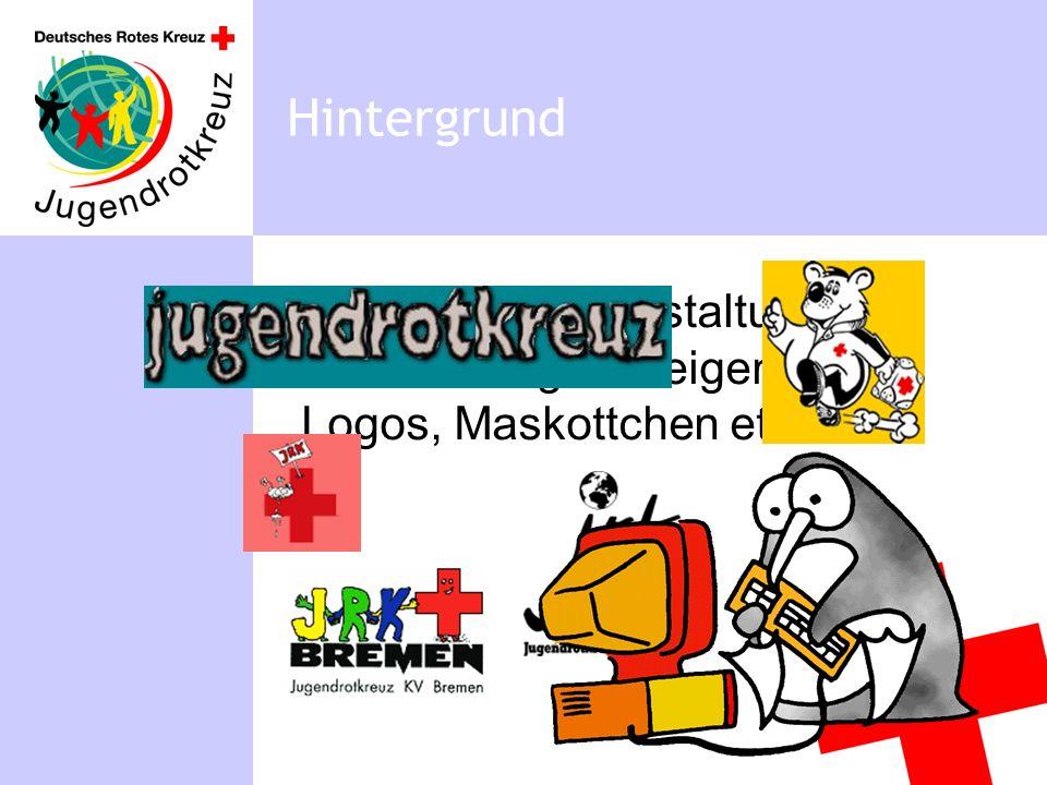uneinheitliche Gestaltung, Verwendung von eigenen Logos, Maskottchen etc. Hintergrund