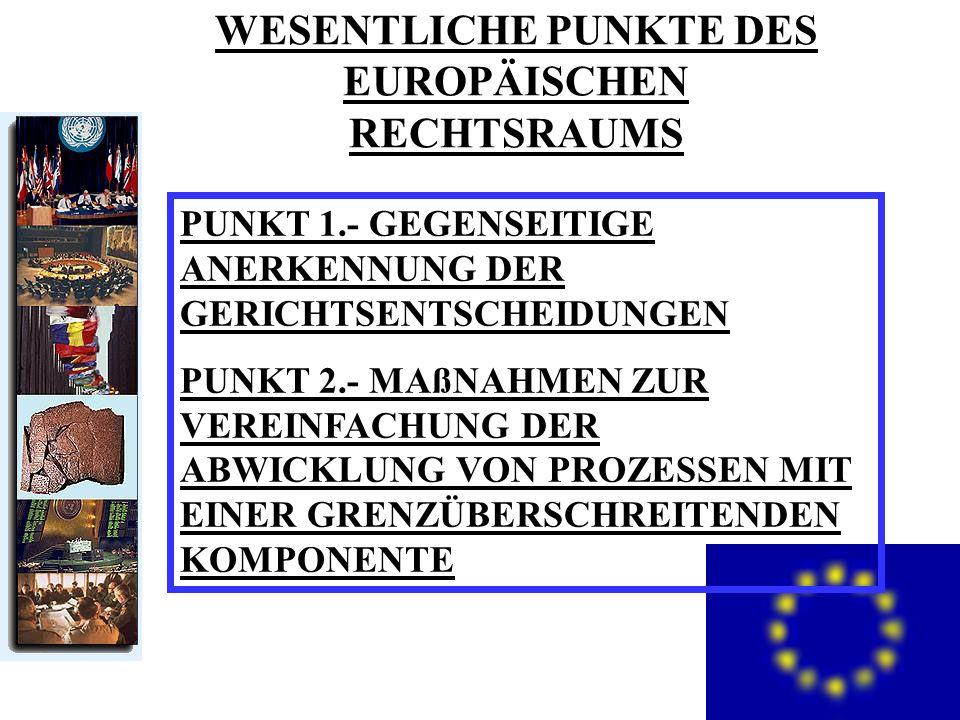 2. TEIL DER GRUNDSATZ DER GEGENSEITIGEN ANERKENNUNG: DIE ACHSE DES EUROPÄISCHEN RECHTSRAUMS