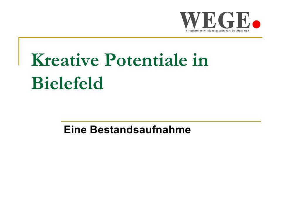Kreative Potentiale in Bielefeld 2008 Eine Bestandsaufnahme 2 Überblick: 1.