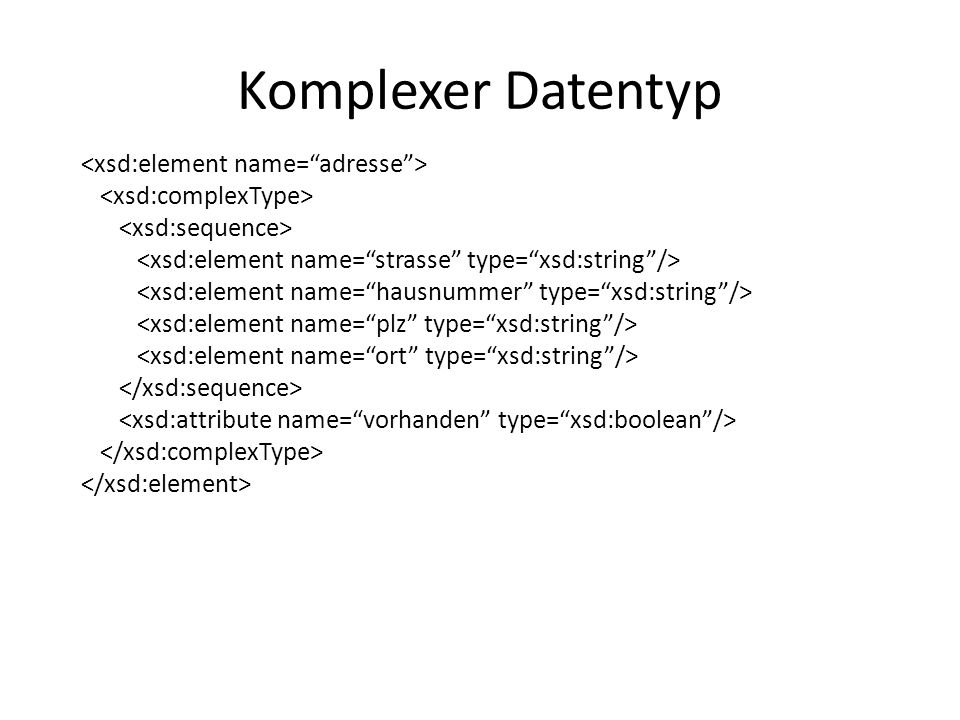 Komplexer Datentyp