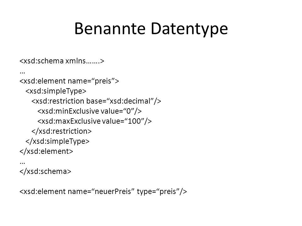 Benannte Datentype … …