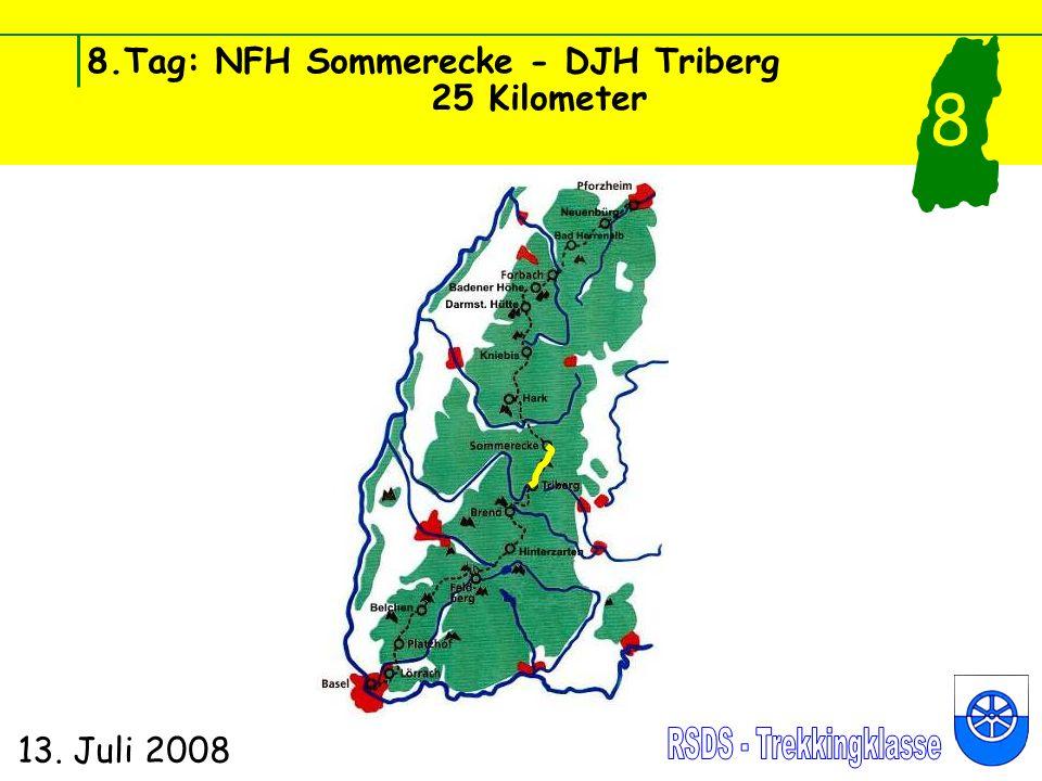 8.Tag: NFH Sommerecke - DJH Triberg 25 Kilometer 13. Juli 2008 8