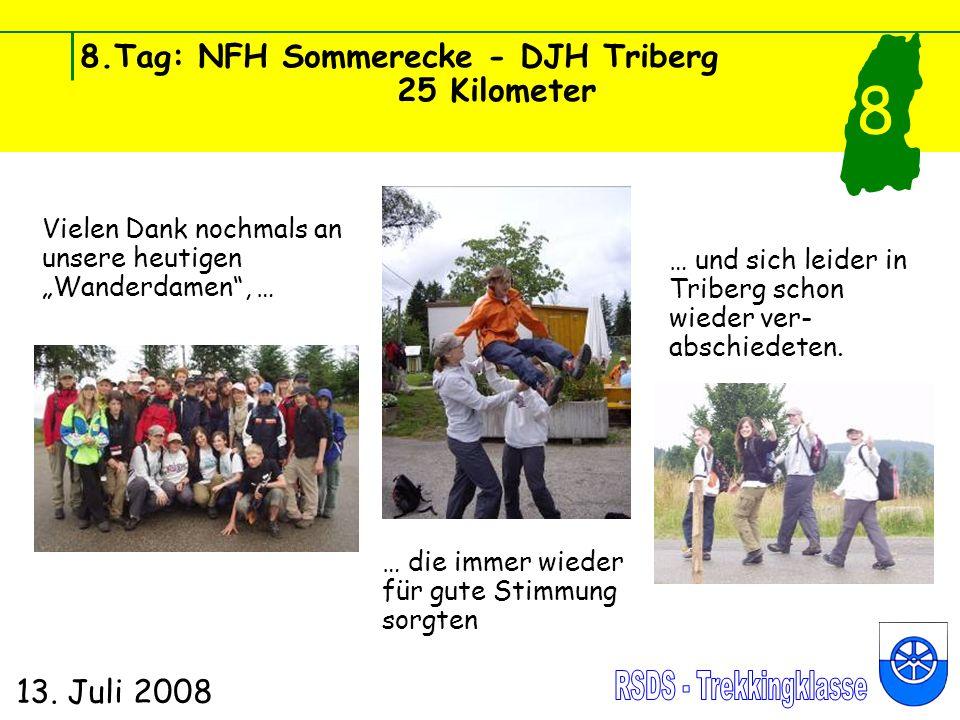 8.Tag: NFH Sommerecke - DJH Triberg 25 Kilometer 13.