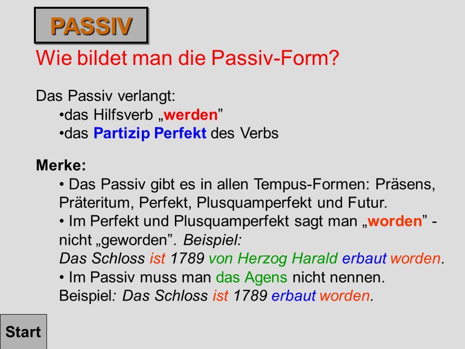 Wie bildet man die Passiv-Form.