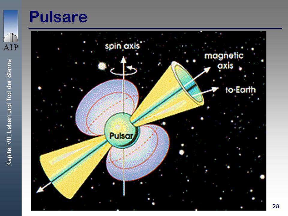 Kapitel VII: Leben und Tod der Sterne 28 Pulsare