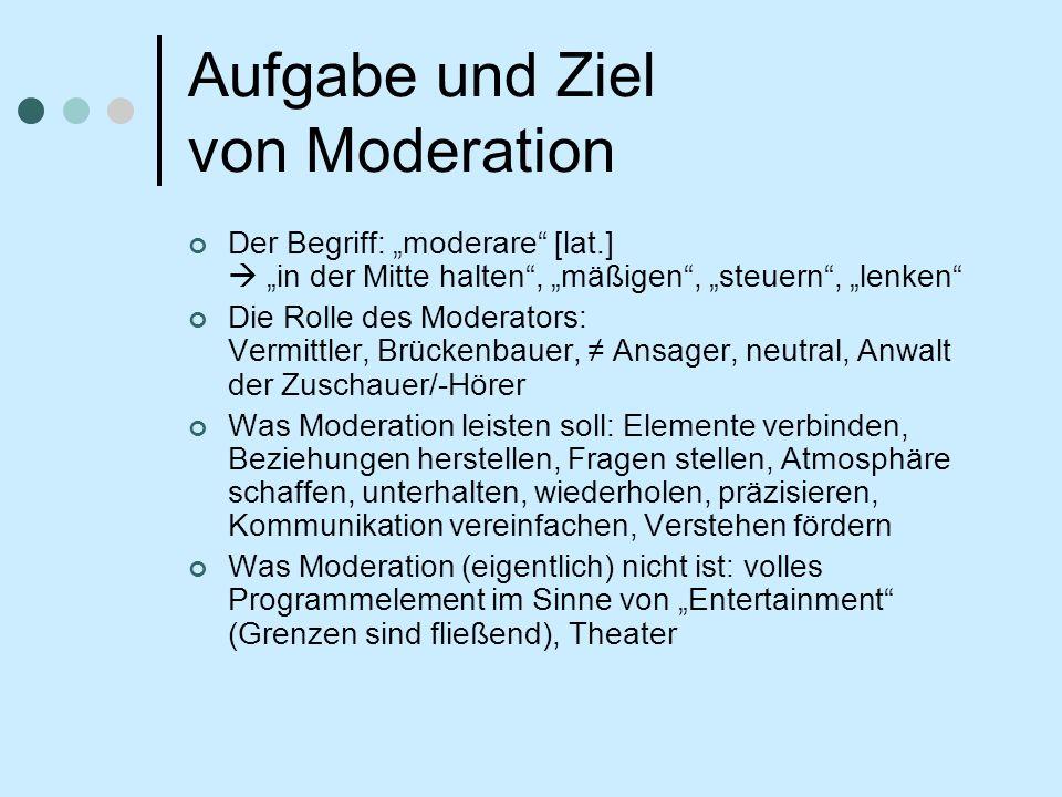 Warum überhaupt Moderation im (anderen) Gottesdienst.