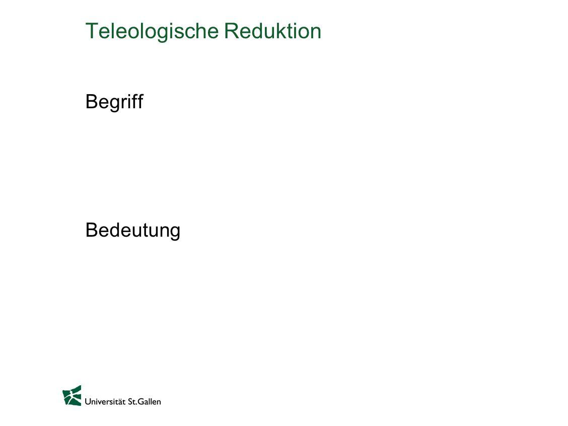 Teleologische Reduktion Begriff Bedeutung