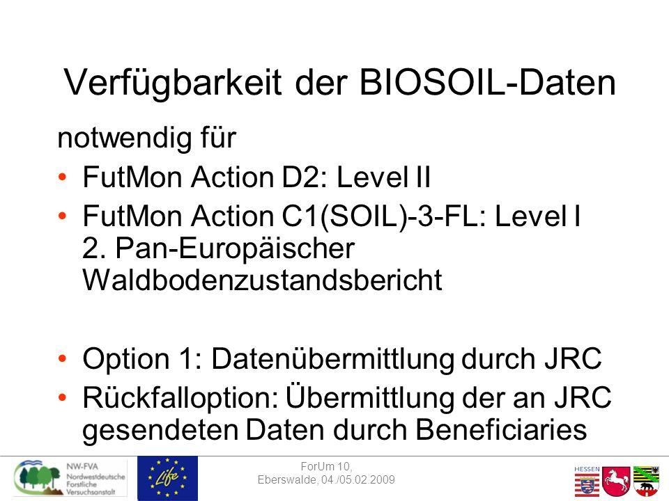ForUm 10, Eberswalde, 04./05.02.2009 Expert panel Phenology & Action D1 LAI (Leaf Area Index) –in verschiedenen Actions: D1, D2, D3 –Verschiedene Erhebungsverfahren Lichtmessung (z.B.
